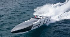 High speed racing boat that is ultra loud and rattles the people on the beach as we roar by.