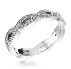 Penny Preville - New Signature Collection 18K White Gold .28ctw Diamond Entwined Eternity Band (Available at Michael C. Fina)