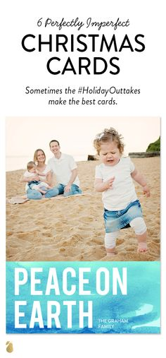 Forget perfect family photos. Celebrate the holidays with the perfectly imperfect moments! #ChristmasCards
