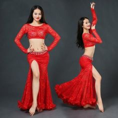 2017 Lace Woman Belly Dance Costume Suits Top&skirt Performance Wear Skirt 2017 New Women Belly Dance Suits Top&skirt Belly Dancer Costumes, Belly Dancers, Dance Costumes, Belly Dance Music, Belly Dance Outfit, Dance Performance Wear, Top Y Pollera, Tribal Fusion, Custom Dresses