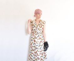 metallic rainbow butterfly dress . frilly ruffle bodice . by DOTTO