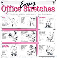 1000 Images About Office Stretches On Pinterest
