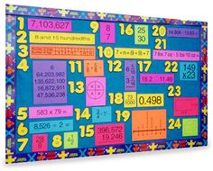 Mountain Math Bulletin Board