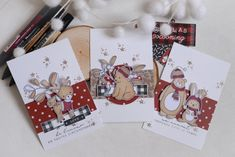 Christmas Cards and Pages - Weihnachten Mix Media, Handmade Christmas, Christmas Crafts, Photo Album Scrapbooking, New Year Gifts, Winter Christmas, Homemade Cards, Mini Albums, I Card