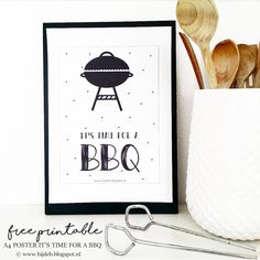 bijdeb: Free printable A4 poster: It's time for a bbq....