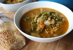 This Autumn Lentil Veggie Soup is healthy, simple, and so comforting for a cool fall day! Vegan, gluten free.