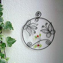 Dekorácie - kruh s motýlikmi - 5118271_