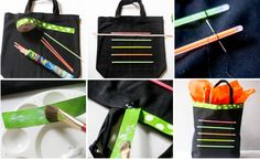DIY glow stick tote for halloween night