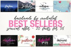 Best Sellers fontbundle by MediaLab.Co on @creativemarket