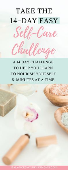Are you ready to ease into self-care? If you're not used to taking care of yourself, you will enjoy this easy self-care challenge. Join any time and learn some habits to help you take care of yourself. I know you'll love this challenge! Wellness Tips, Health And Wellness, Health Tips, Mental Health, Working Mother, Working Moms, 14 Day Challenge, Self Care Activities, Self Development