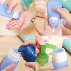 خصم بقيمة 55% على علب السليكون لحفظ المواد السائلة Kitdine Portable Soft Silicone Travel bottles
