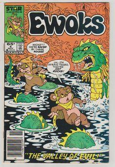 Ewoks V1 4.  VF.  November 1985.  Star Comics by RubbersuitStudios #starwars #comicbooks