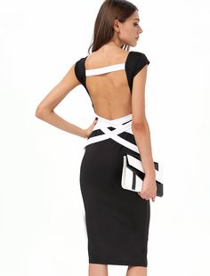 Shop Black Cross Backless Bandage Dress online. Sheinside offers Black Cross Backless Bandage Dress & more to fit your fashionable needs. Free Shipping Worldwide!