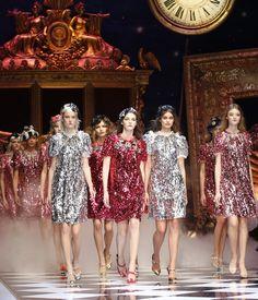 Dolce & Gabbana Fall/Winter 2016 RTW runway finale at Milan Fashion Week.