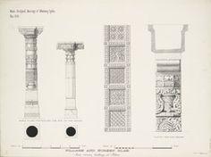 Titel   Pillars and screen slabs from various buildings at Patan | Surveyor…