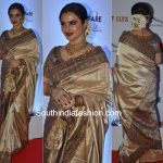 Rekha in a Traditional saree at the Filmfare Glam Awards