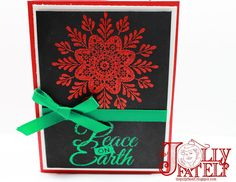 Welcome to the final day in my Frosted Medallions stamp set series. You are going to absolutely love this card! Homemade Christmas Cards, Homemade Cards, Christmas And New Year, Stampin Up Cards, Frost, Card Making, Eastern Palace, Holiday, Big Shot