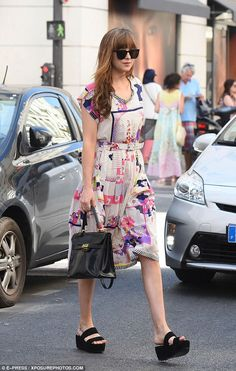Relocation: Dakota Johnson had moved away from the horrors of the south of France as she h...
