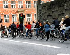 There are around 350 km (217 miles) of cycle paths in Copenhagen ..