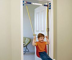 Door Frame Swing $36.56 If you don't want to take your kid to the park or want to beat the outdoor heat, the indoor door frame swing is the answer to your prayers. It can be set up on most door frames to provide your kid with hours of safe entertainment while you enjoy the perks of staying indoors.
