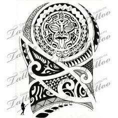 Maori Polynesian Mask Tattoo Design