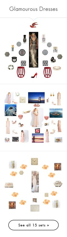 """""""Glamourous Dresses"""" by einder ❤ liked on Polyvore featuring beauty, Bungalow 5, Christian Louboutin, Gucci, Forever 21, Giorgio Armani, Kate Spade, Deborah Lippmann, Smith & Cult and Yves Saint Laurent"""