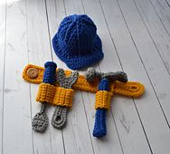 Ravelry: Tool Belt - Hammer, Wrench, Screwdriver pattern by Christins from My Sweet Potato 3