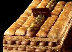 Millefoglie crema al cioccolato e pistacchio