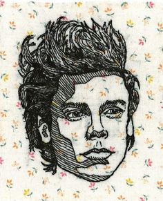"""sweaterbones: """" Harry Styles patch for my lady, Rachel… Portrait Embroidery, Embroidery Applique, Cross Stitch Embroidery, Embroidery Patterns, Textile Patterns, Thread Art, Thread Painting, Contemporary Embroidery, Textile Artists"""