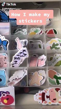 Diy Crafts Hacks, Crafts To Do, Paper Crafts, Pinterest Diy Crafts, How To Make Stickers, Sticker Design, Diy Art, Diy For Kids, Diy Gifts