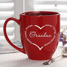 Cute Valentine's Day gift idea for parents or grandparents - and really affordable! They'll love the personal touch! #GiftsFromTheHeart @PersonalizationMall.com (PMall.com)