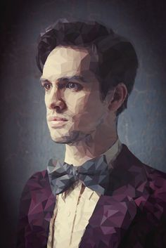 Brendon Urie - Poster Low Poly.