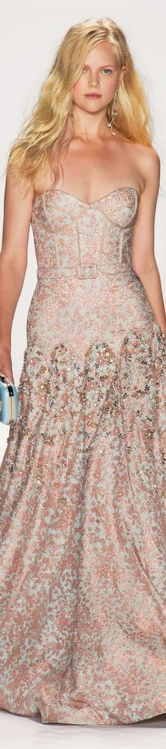 Badgley Mischka Spring 2015 Ready to wear Runway Fashion, Fashion Show, Fashion Design, Fashion Spring, Beautiful Gowns, Beautiful Outfits, Traje Black Tie, Dress Couture, Dress Vestidos