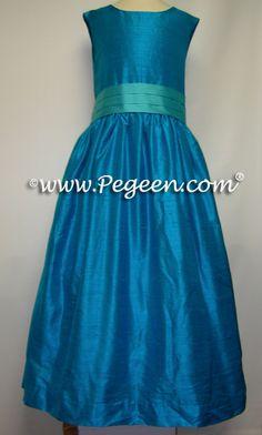 Flower Girl Dresses Blue/Brown