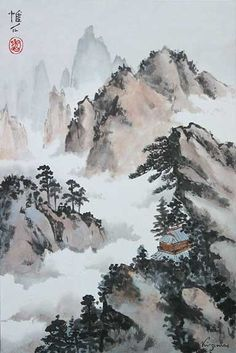 10 outstanding artists of the East Zen Painting, Chinese Landscape Painting, Japan Painting, Landscape Drawings, Chinese Painting, Landscape Paintings, Silk Painting, Japanese Drawings, Japanese Art