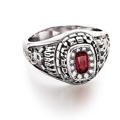 Custom Mens #ClassRing from #Jostens Achiever Collection.