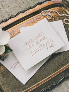 A personal favorite from my Etsy shop https://www.etsy.com/listing/544446023/wedding-calligraphy-hand-written