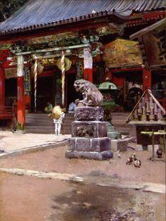 江戸時代 歴史 絵画 目黒不動 by Robert Frederick Blum