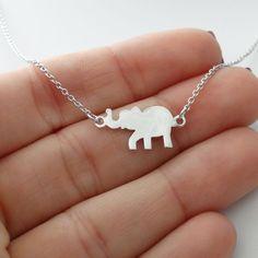 Elephant Necklace - 925 Sterling Silver - Elephant Zoo Silhouette Charm Jewelry  #FashionJunkie4Life #Pendant