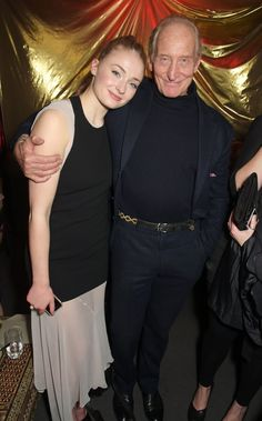 Pin for Later: It's Always Fun to See the Game of Thrones Cast Out of Costume Sophie Turner and Charles Dance