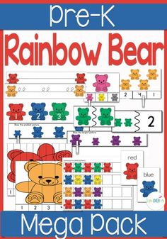 Rainbow Bear Dice Game for Preschoolers