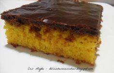 Bolo de Cenoura com Cobertura de Chocolate Durinha - delicinhasecoisinhas.blogspot.com