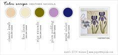 March 2016 Color Recipe - Kraft, Fine Linen, Ripe Avocado, Plum Pudding, Royal Velvet (Heather Nichols)