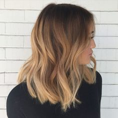 Full hair painting/ balayage and a blunt long bob for this beauty! Balayage Ombré Blond, Hair Color Balayage, Ombre Blond, Blonde Highlights, Ash Blonde, Balayage Long Bob, Long Bob Ombre, Balayage Hair Honey, Full Balayage