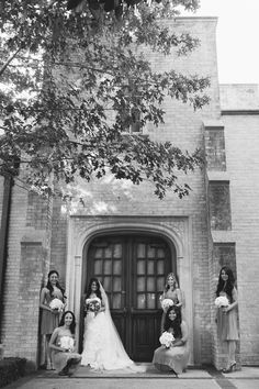 Bride with Bridesmaids - Photo Source • RAE Portraits