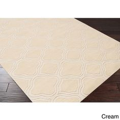 Hand Loomed Bexley Casual Solid Tone-On-Tone Moroccan Trellis Area Rug-