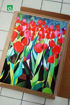 Tulipany. 50x70 cm.  Wydruk na papierze. autor : Edyta Rybczynska   Jesli interesuje Cie ten plakat , skontaktuj sie ze mna.