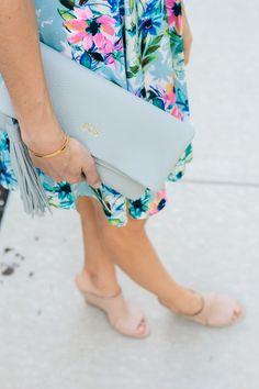 GiGi New York | Grey Stella Clutch | The Fox and She Fashion Blog