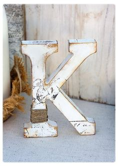 My decorative wooden letters are so unique, hand stamped and distressed, great for your rustic themed wedding! You can choose it in two sizes and many colors. I can make them as customized in size and color as you wish! Very decorative item, hand painted letters adds interest to any table, shelf or nursery room! These letters make a real statement as wedding table centerpiece, or home decor. Also great and unique cake topper letter! These beautiful letters are freestanding - so perfect ...