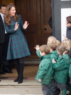 Catherine, Duchess of Cambridge visited the Pre-Prep School for under-5s during her visit in St Andrew's School